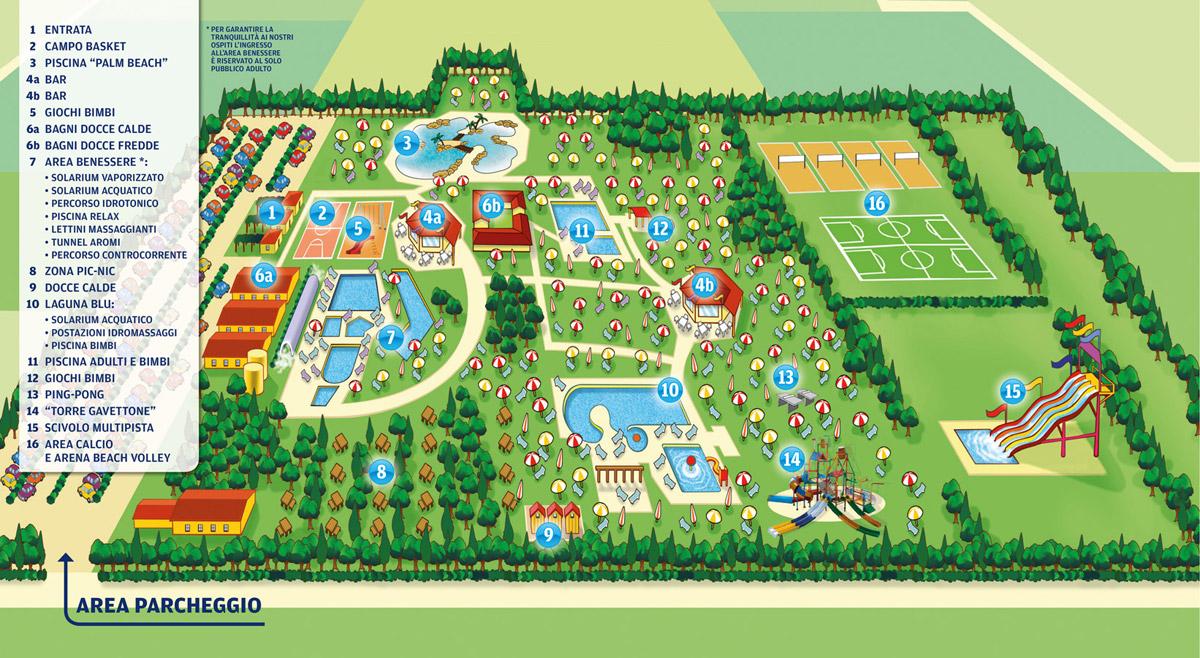 Mappa Parco Acquatico Prato Blu